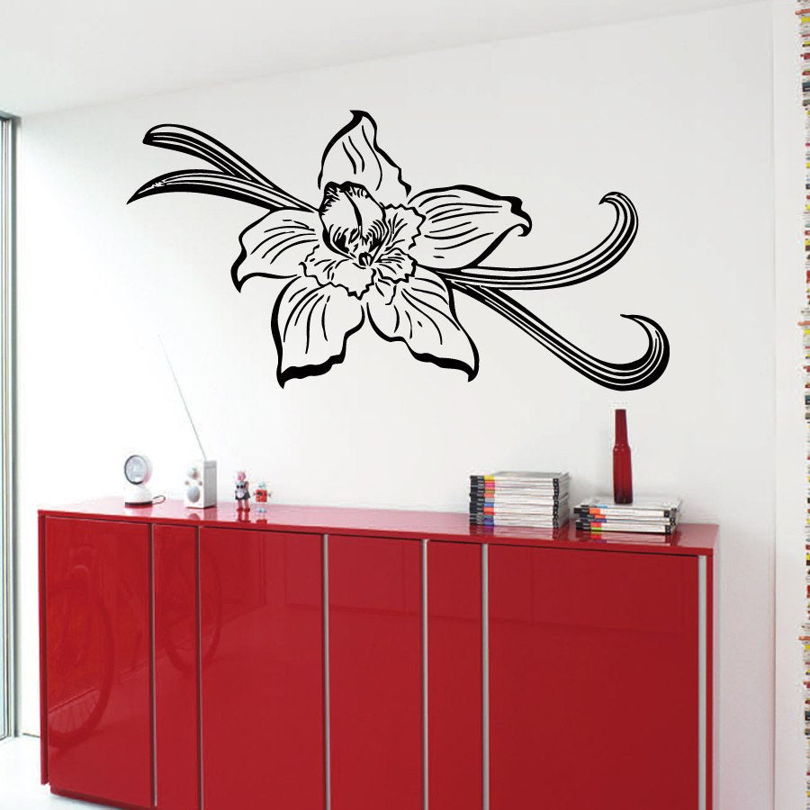 Shop flower vinyl sticker wall art free shipping on orders over 45 overstock 10163608