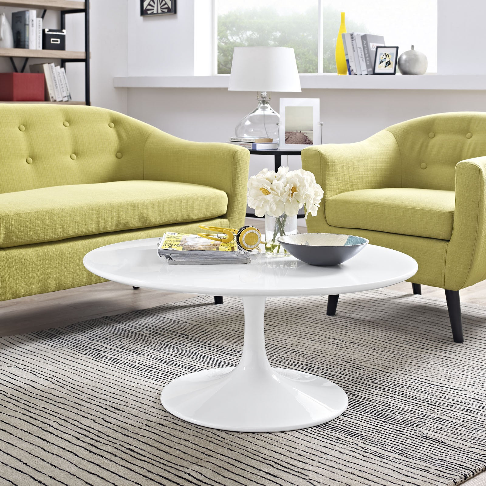 Progress White 36 Inch Round Coffee Table On Free Shipping Today 10163941