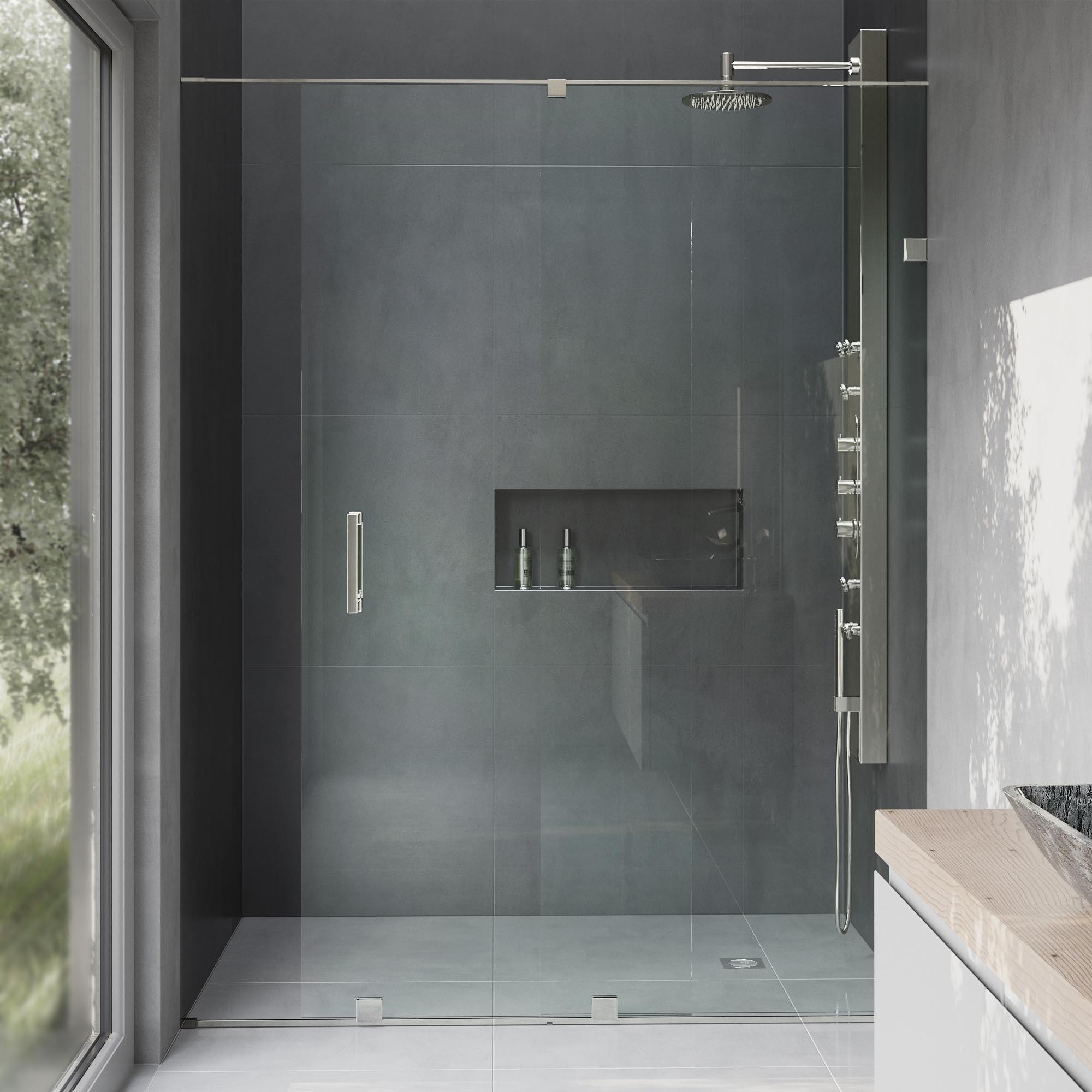Vigo Ryland 60 Inch Frameless Shower Door With 375 In Clear Glass
