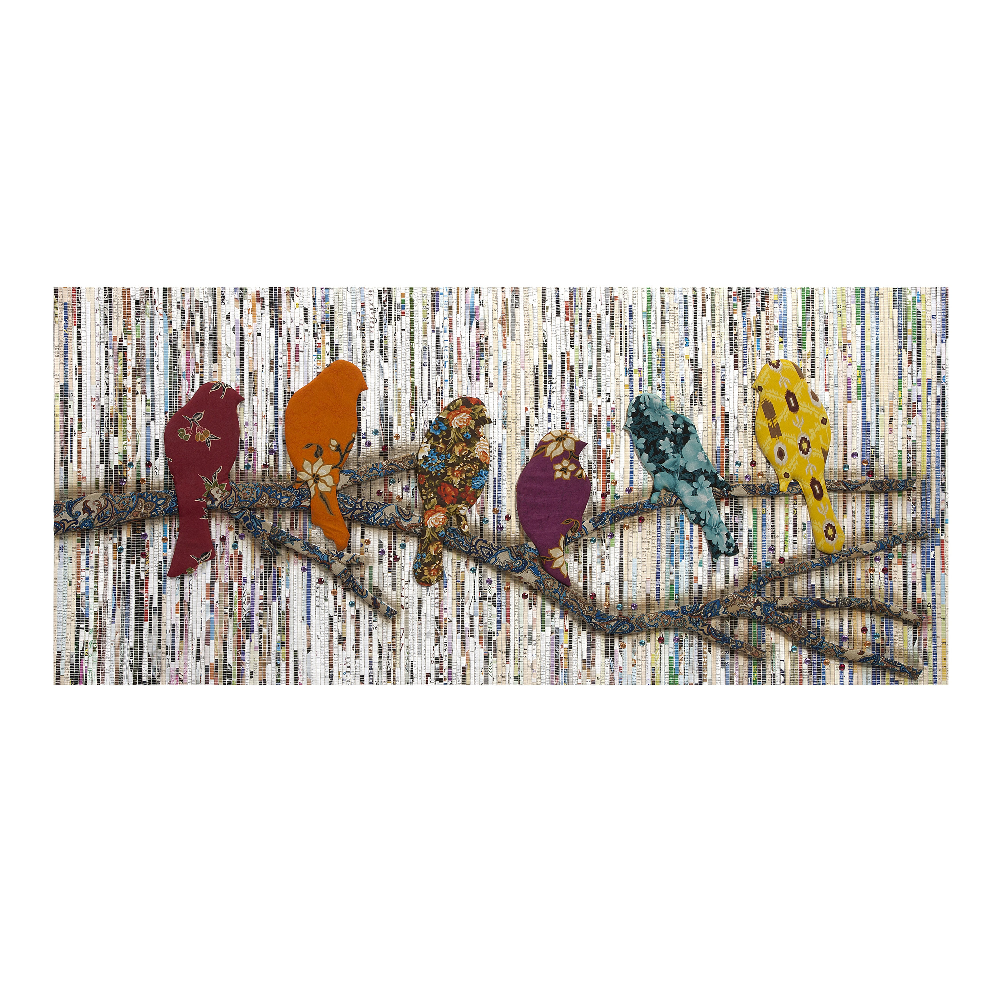 Camara Batik and Newspaper Bird Wall Decor - Free Shipping Today -  Overstock.com - 17293456
