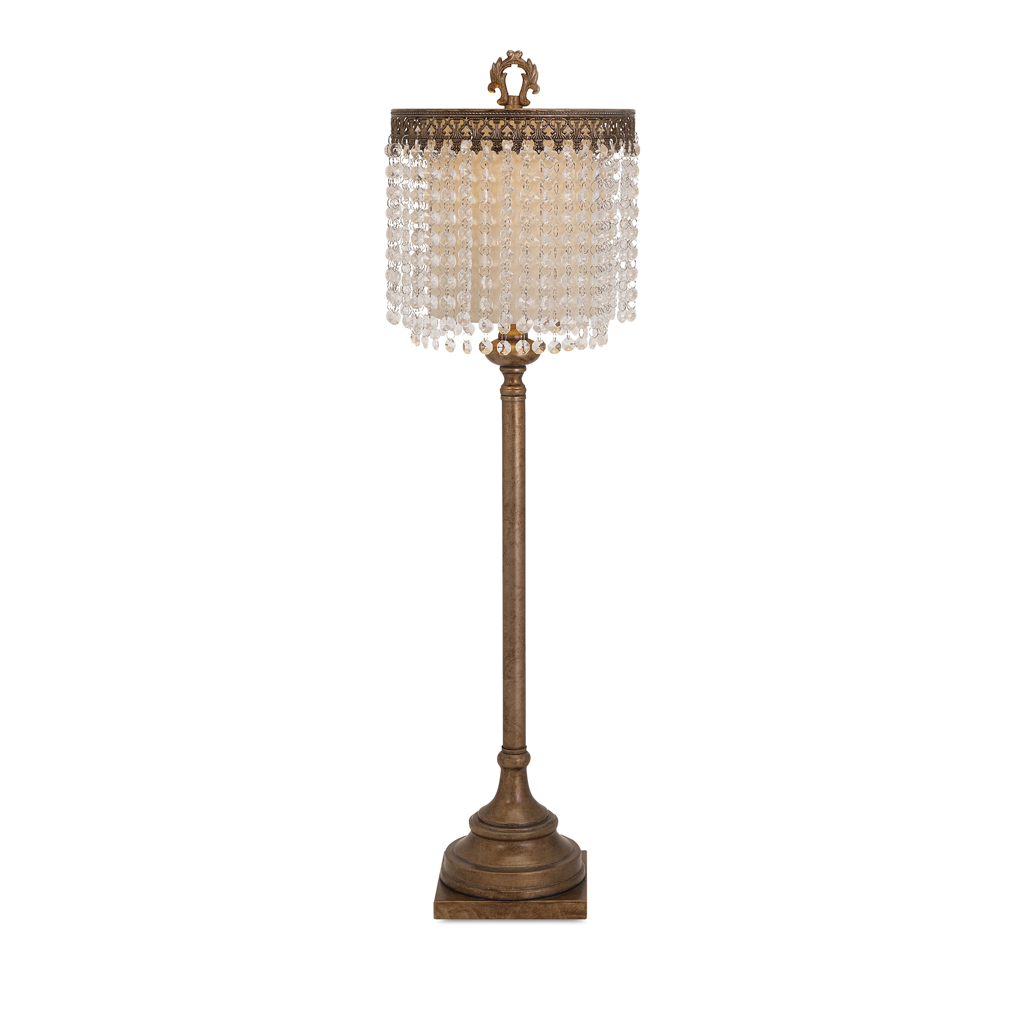 Shop Maeveen Crystal Beaded Table Lamp On Sale Free Shipping