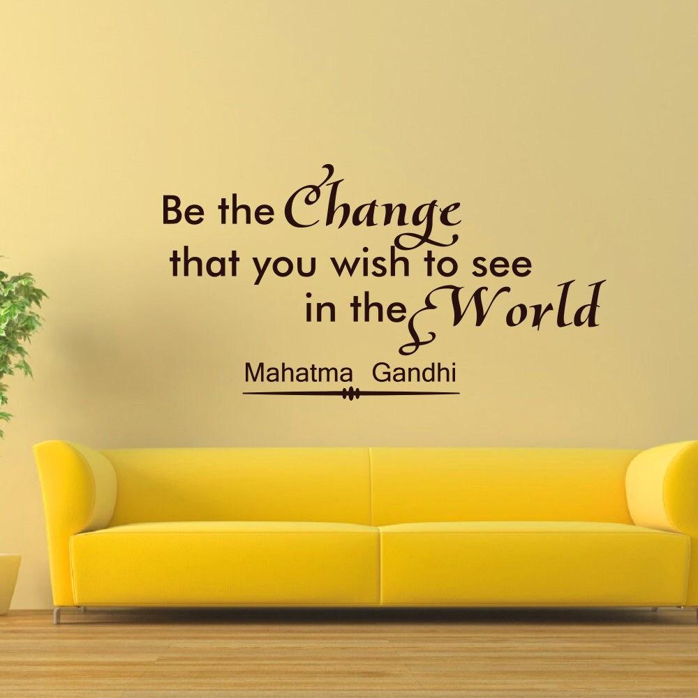 Shop Be the Change Mahatma Gandhi Vinyl Sticker Wall Art - Free ...