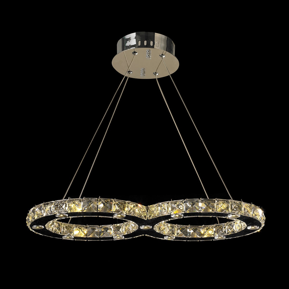 Shop Galaxy Clear Crystal Double Ring 22 light