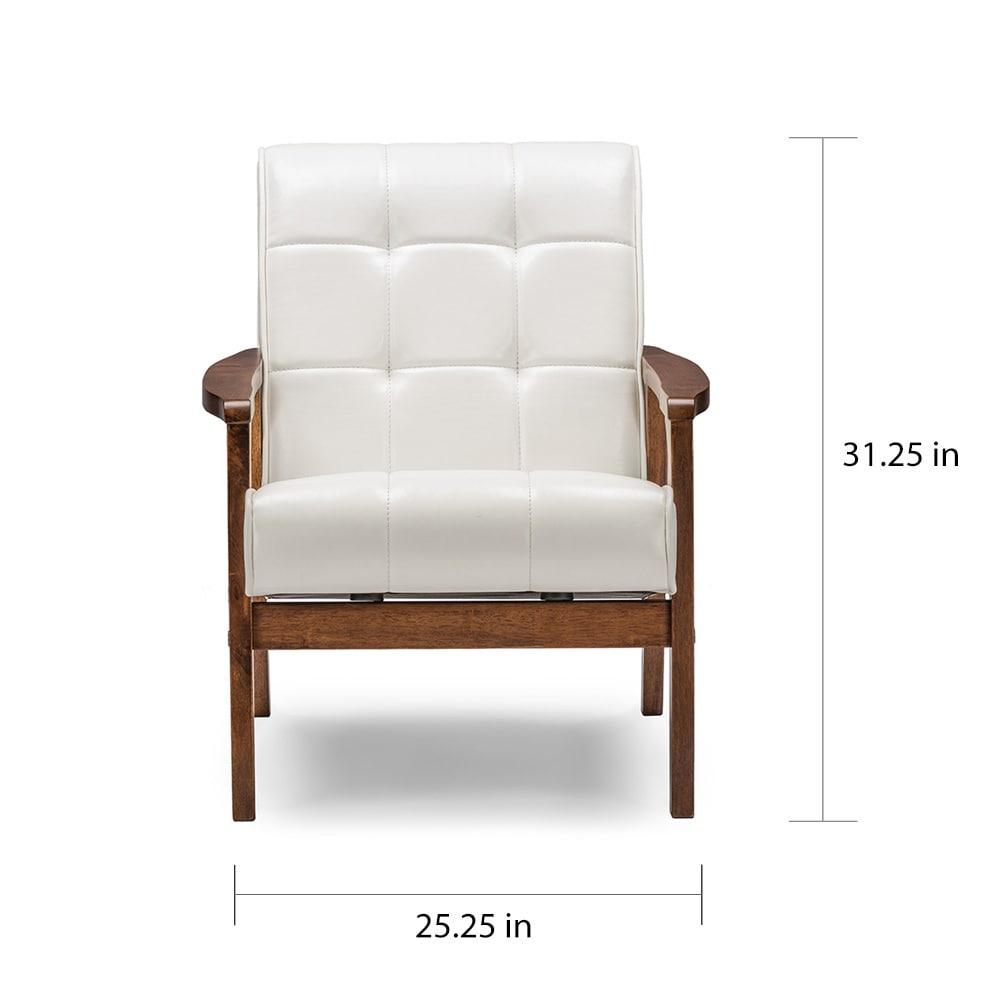 Etonnant Shop Carson Carrington Karkkila Mid Century White Faux Leather Chair   On  Sale   Free Shipping Today   Overstock.com   20543558