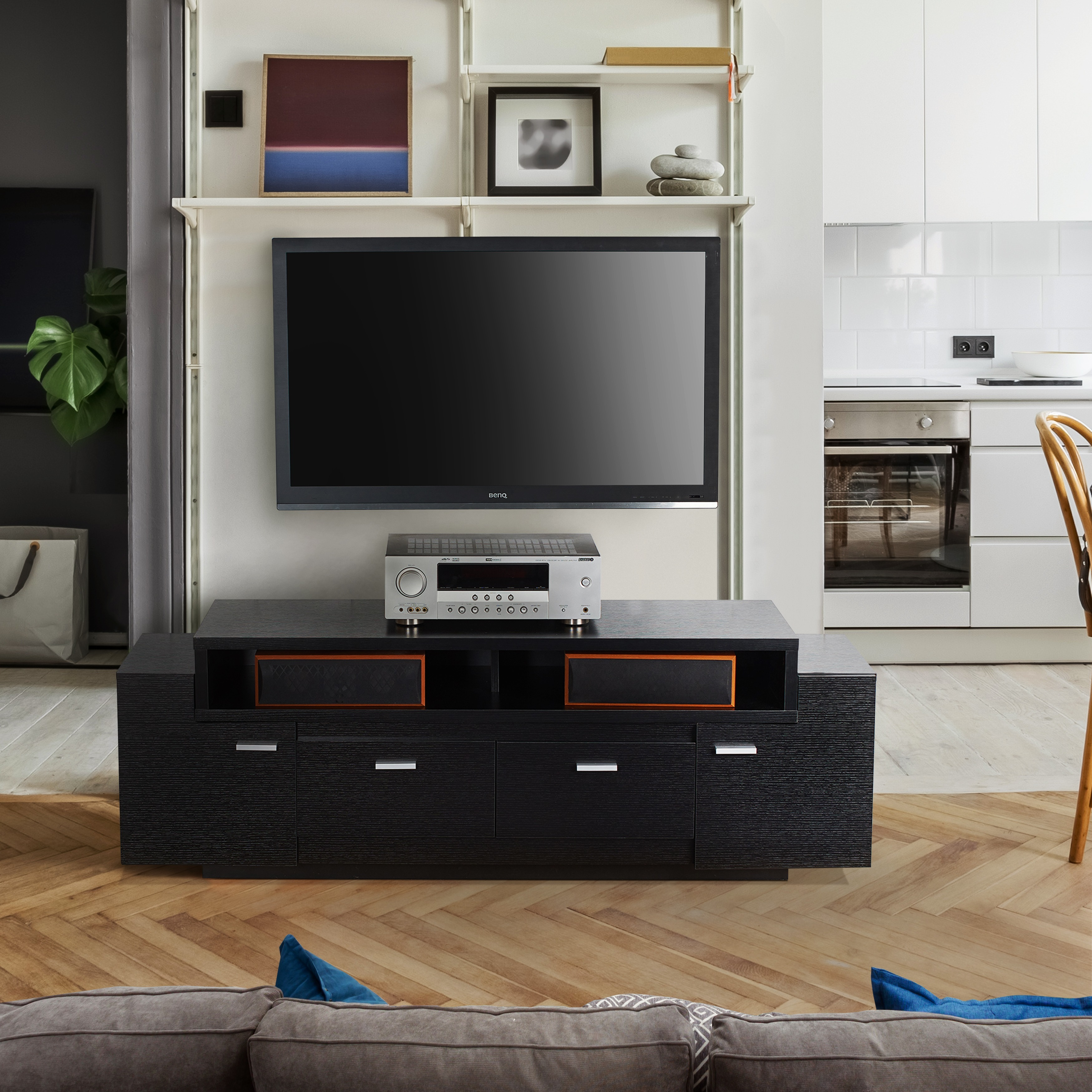 Shop Furniture Of America Peyton Modern Tiered 60 Inch Tv Stand