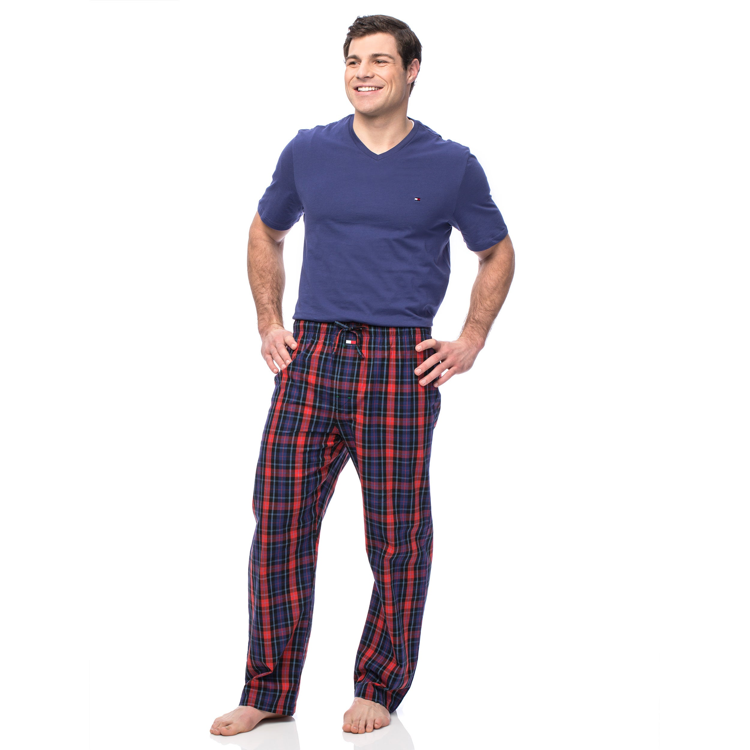 b8b62a76268 Shop Tommy Hilfiger Men s Navy and Red Short Sleeve Pajama Box Set - Free  Shipping On Orders Over  45 - Overstock - 10168094