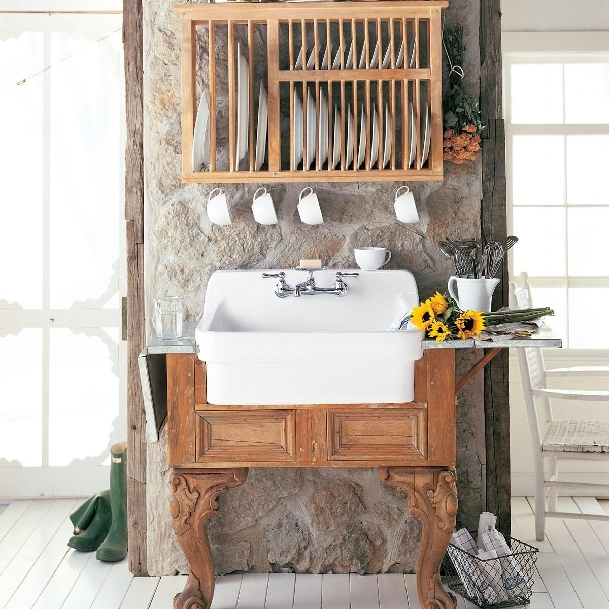 Shop American Standard Country Kitchen Sink 9062.008.020 White ...