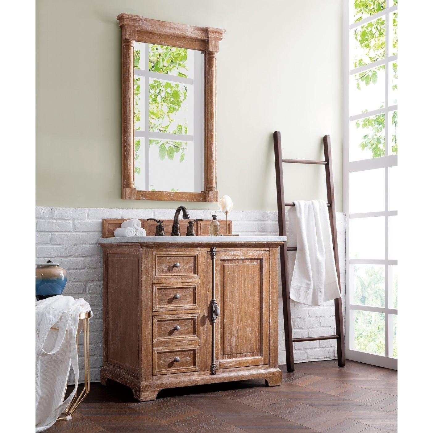 Providence 36 Single Vanity Cabinet Driftwood Free Shipping Today 10171289