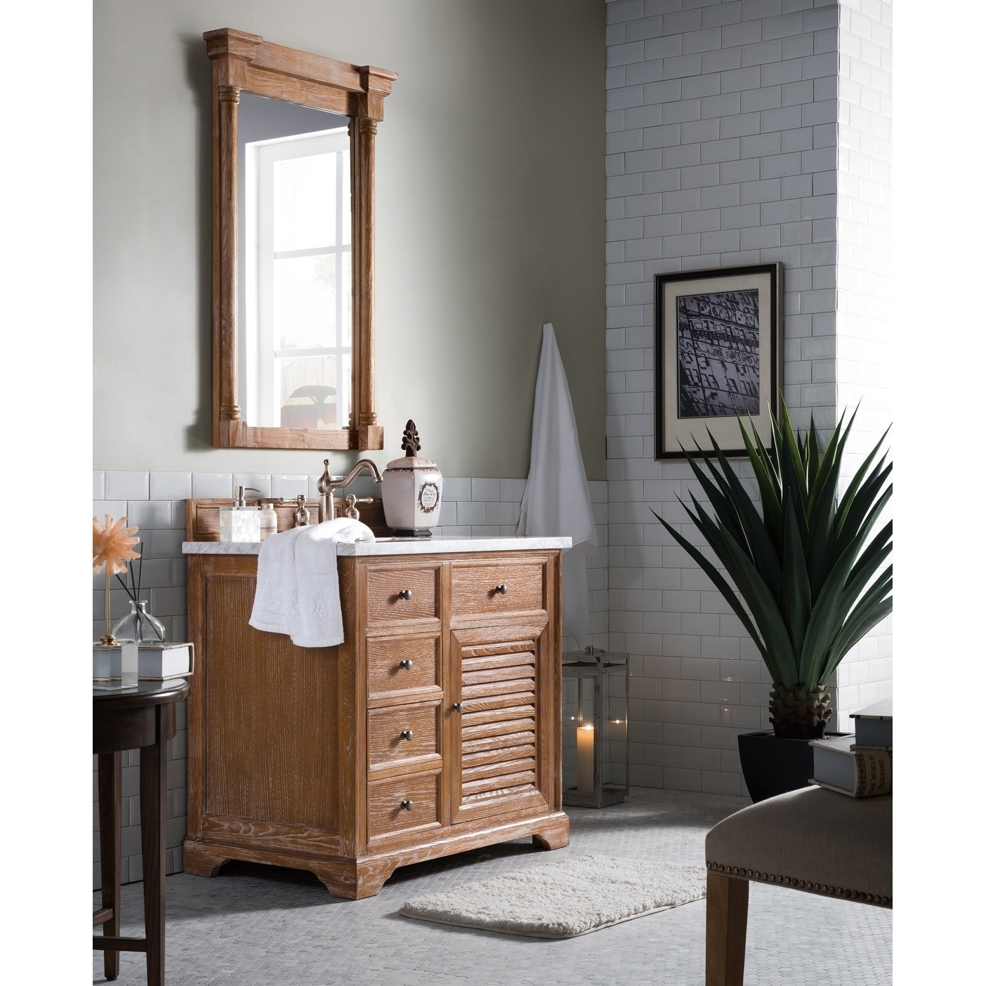 Savannah 36 Single Vanity Cabinet Driftwood Base Only No Top Free Shipping Today 10171296