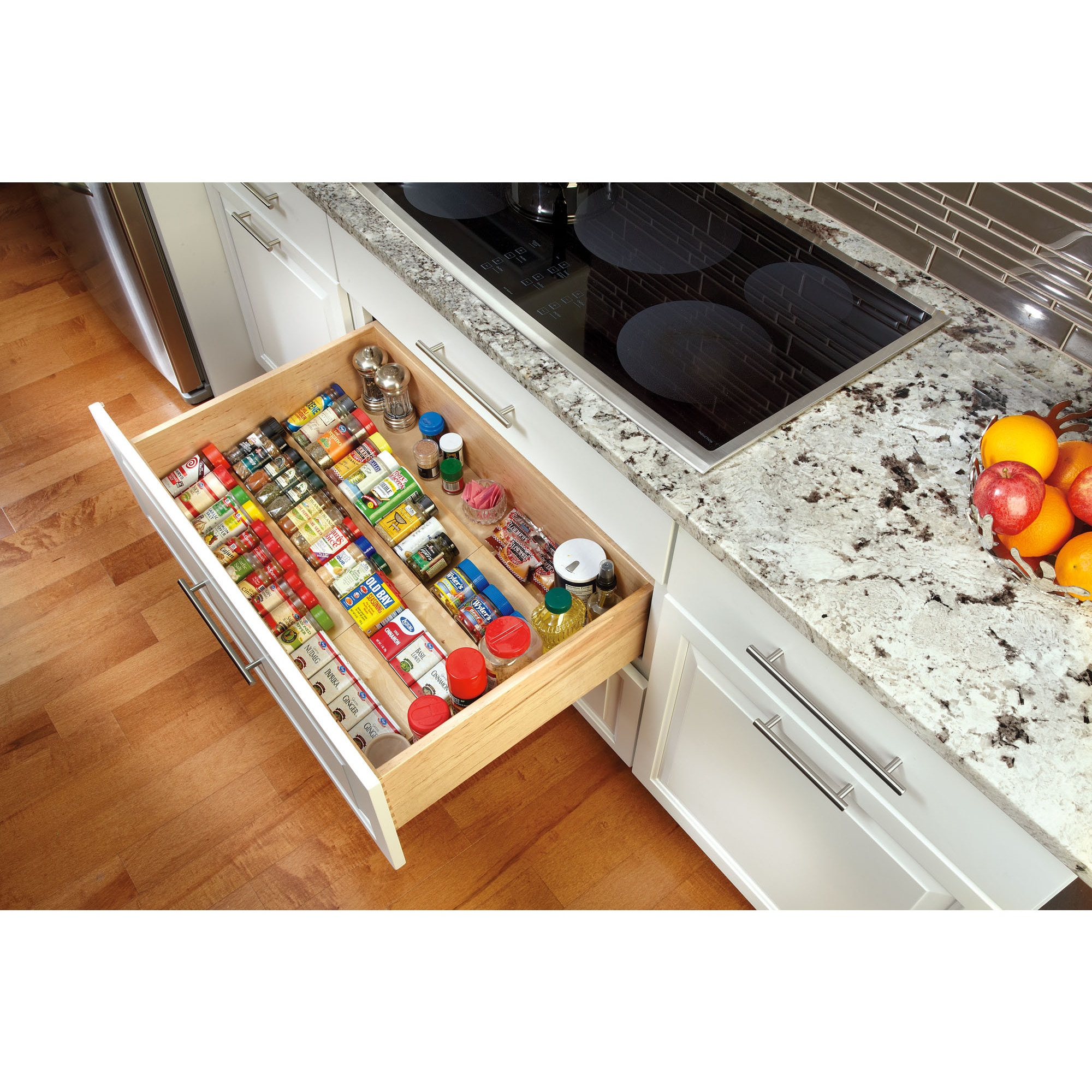 Attractive Shop Rev A Shelf 4SDI 24 Wood Spice Drawer Insert   Free Shipping Today    Overstock.com   10171657