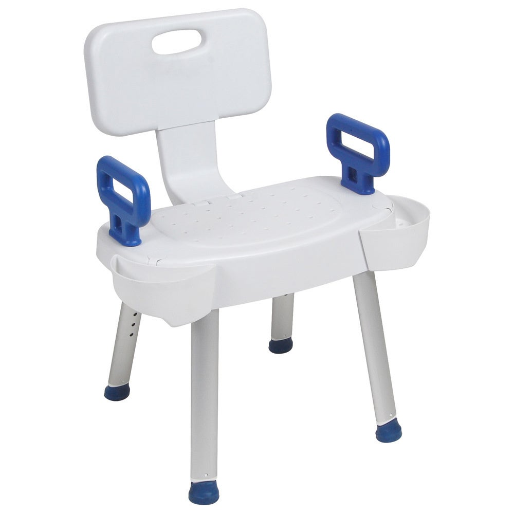 Drive Medical Bathroom Safety Shower Chair with Folding Back - Free ...