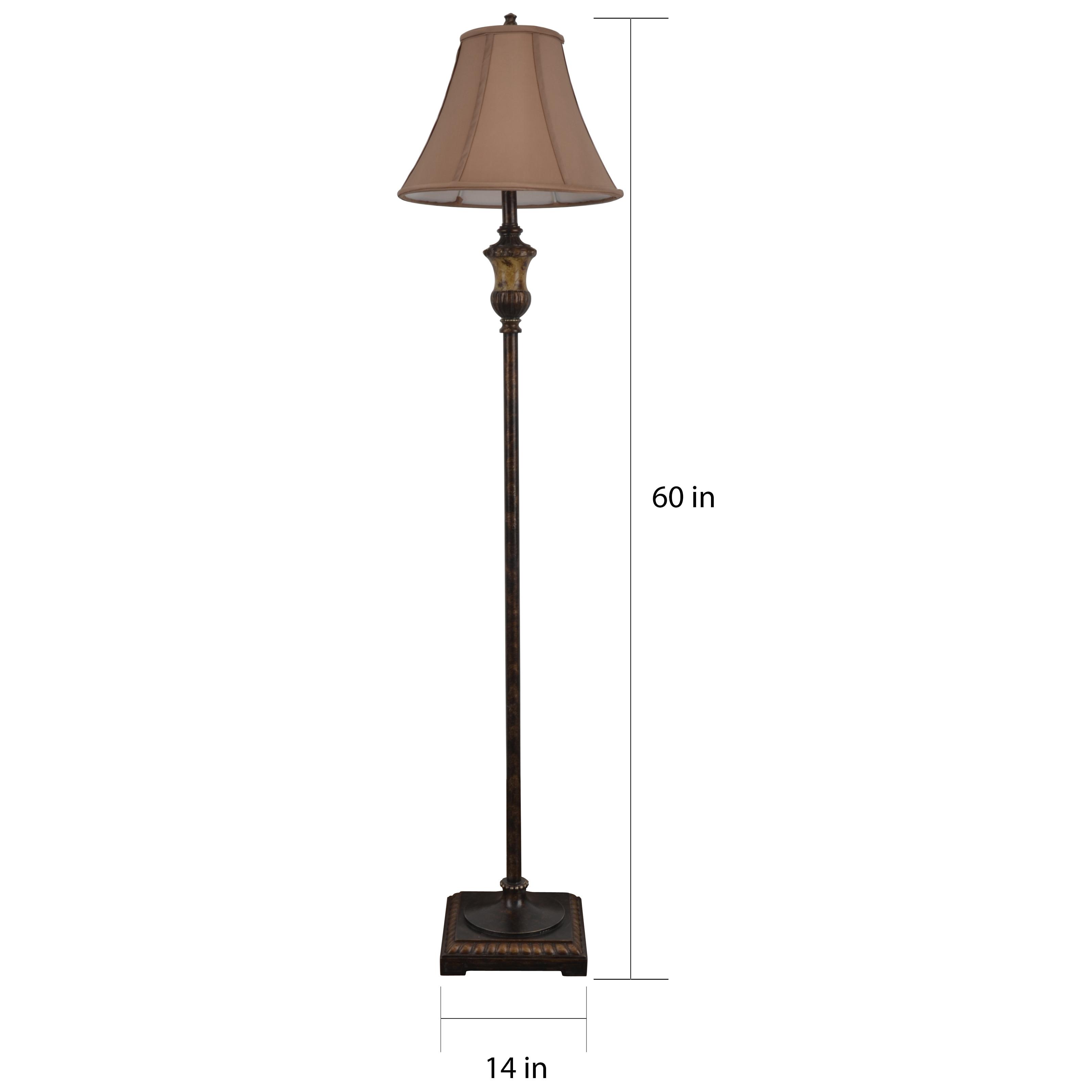 Shop 60 inch golden bronze floor lamp free shipping on orders over shop 60 inch golden bronze floor lamp free shipping on orders over 45 overstock 10172101 aloadofball Image collections