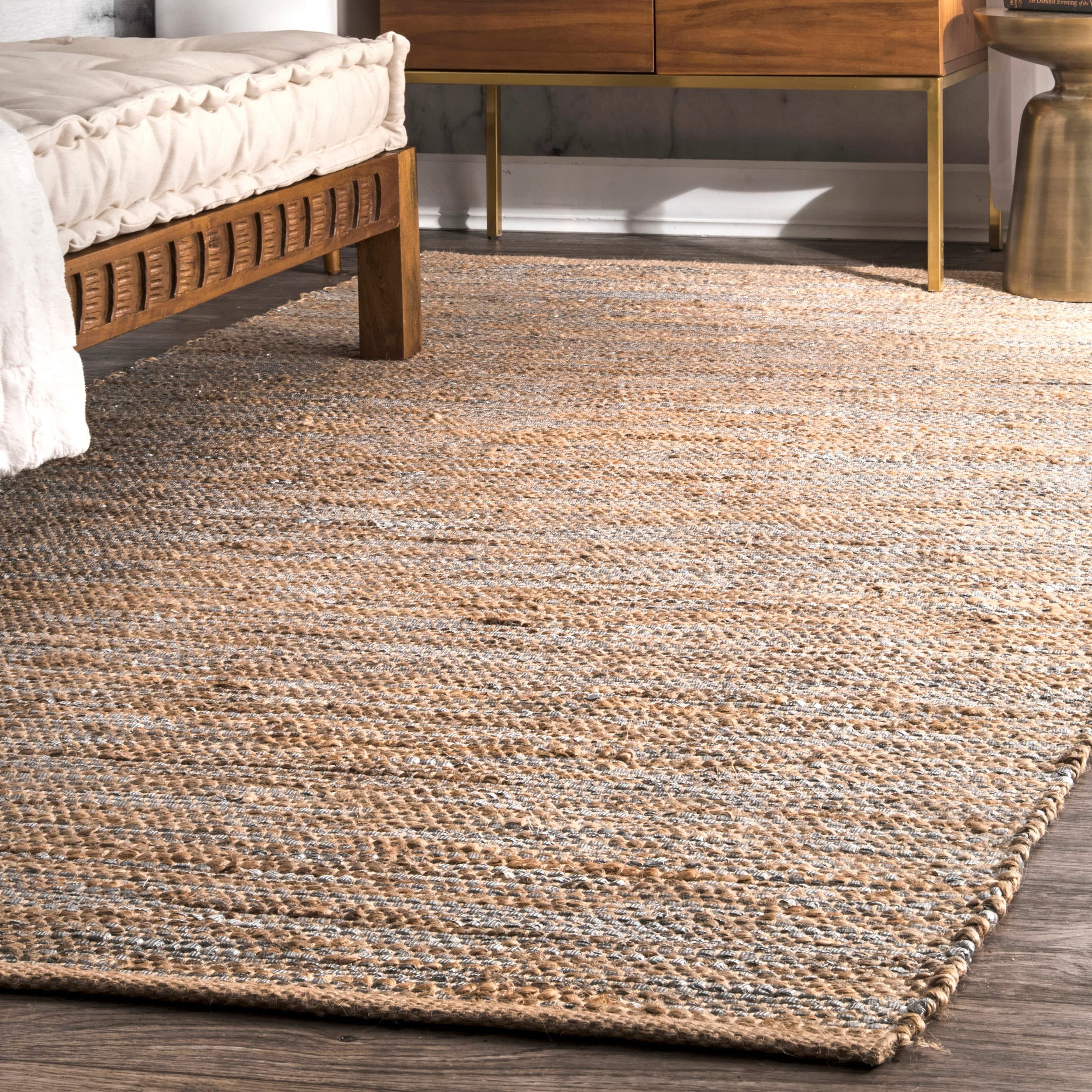 shades varying neutral homewares d hand to rug natural from rugs placed made in sizes nutmeg dining woven is republic bay it comes cor braided the fit and jute any this perfect coco underfoot