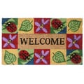 SuperScraper Vinyl Coir Ladybug Welcome Doormat