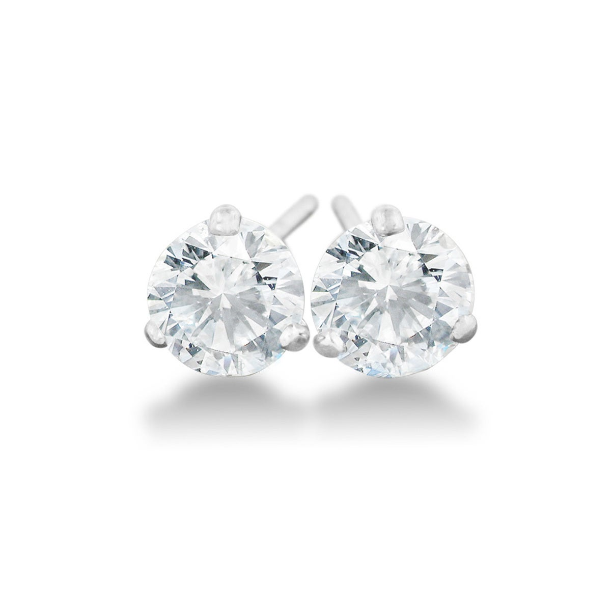 9a6c856b3 Shop 1/2 Carat Diamond Martini Stud Earrings In 14 Karat White Gold, (J-K,  I2-I3) - Free Shipping Today - Overstock - 10175296