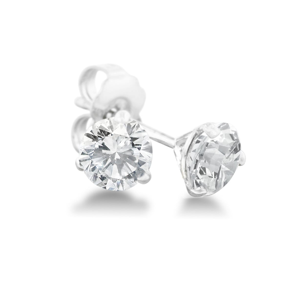 1 2 Carat Diamond Martini Stud Earrings In 14 Karat White Gold J K I2 I3 On Free Shipping Today 10175296