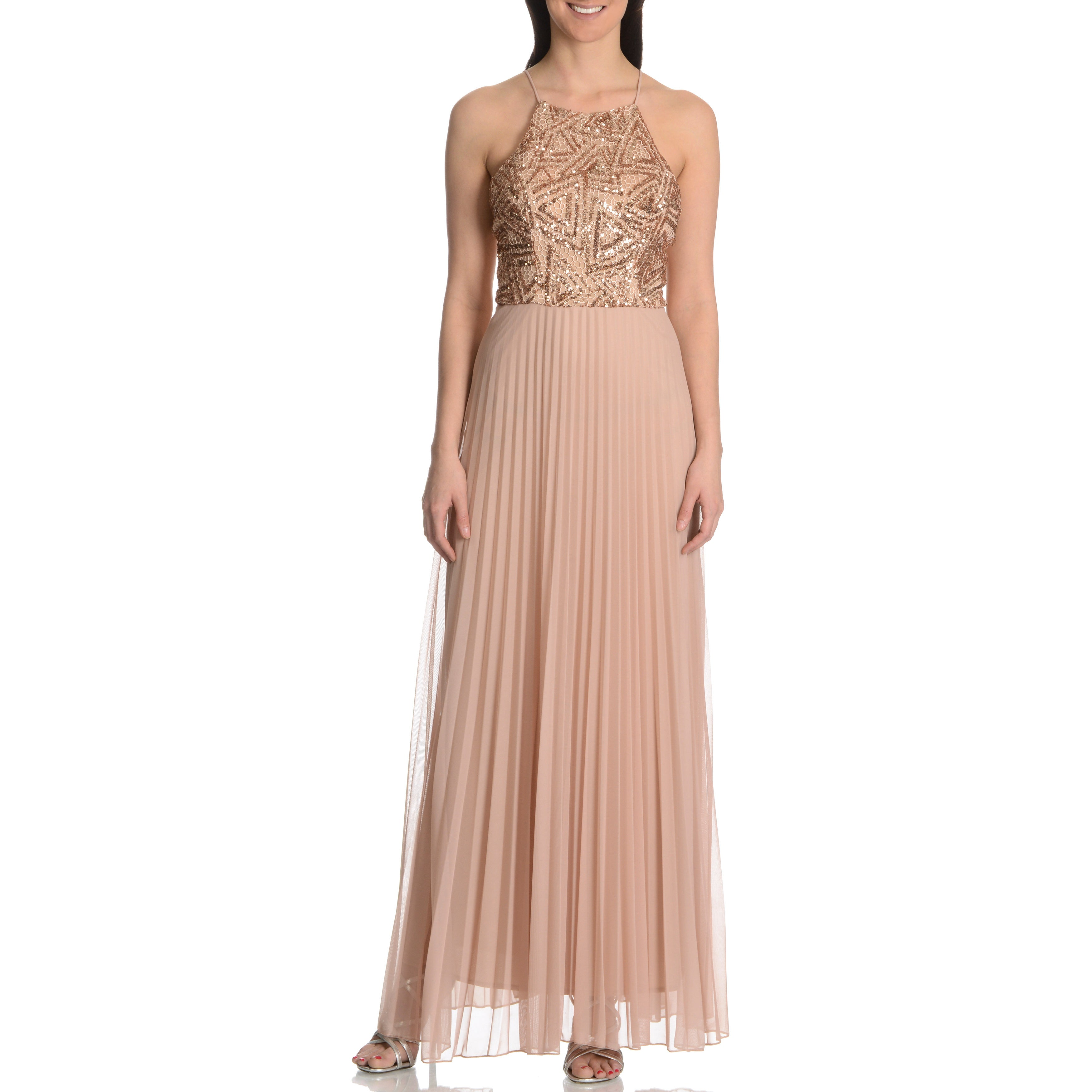 ba700f23 Shop Cachet Women's Spaghetti Strap Crochet & Sequin Top Gown w/Scarf -  Free Shipping Today - Overstock - 10175465