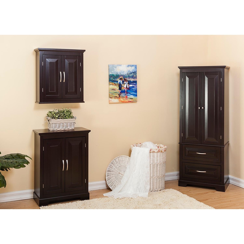 Essential Home Furnishings Genevieve Brown Wood Double Door Floor