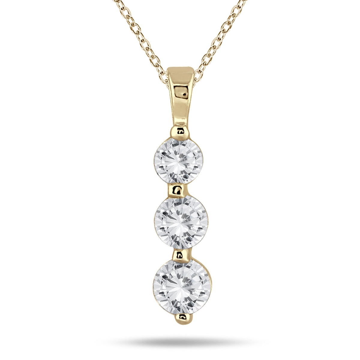 round prong necklace p inch graduated ct tennis diamond product necklaces c