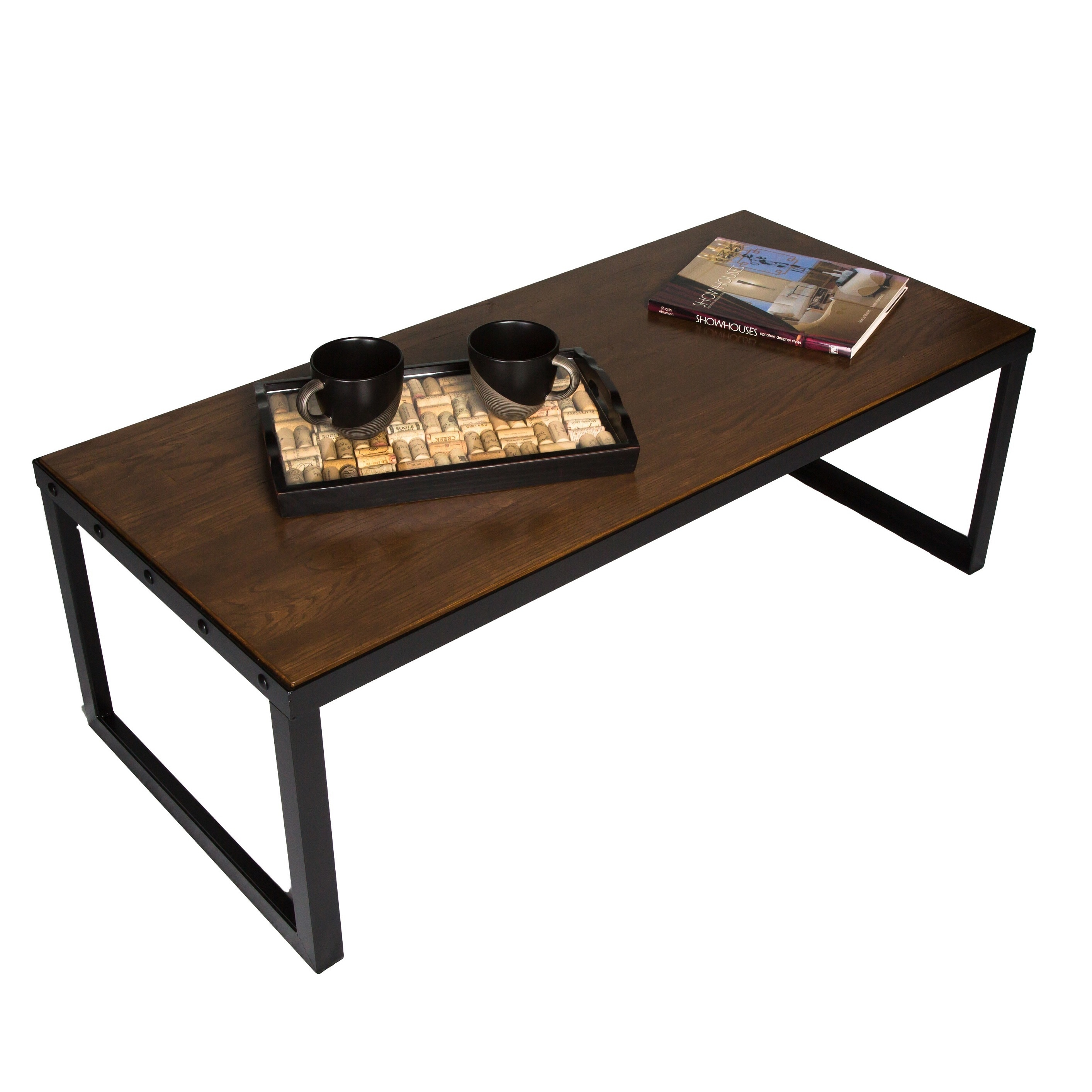 Industrial Chic Coffee Table Belvidere Collection   Free Shipping Today    Overstock   17307031