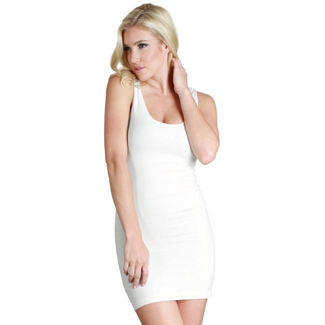 cf83e78587b Shop Nikibiki Women's Seamless Plain Jersey Tank Dress - Free Shipping On  Orders Over $45 - Overstock - 10180555