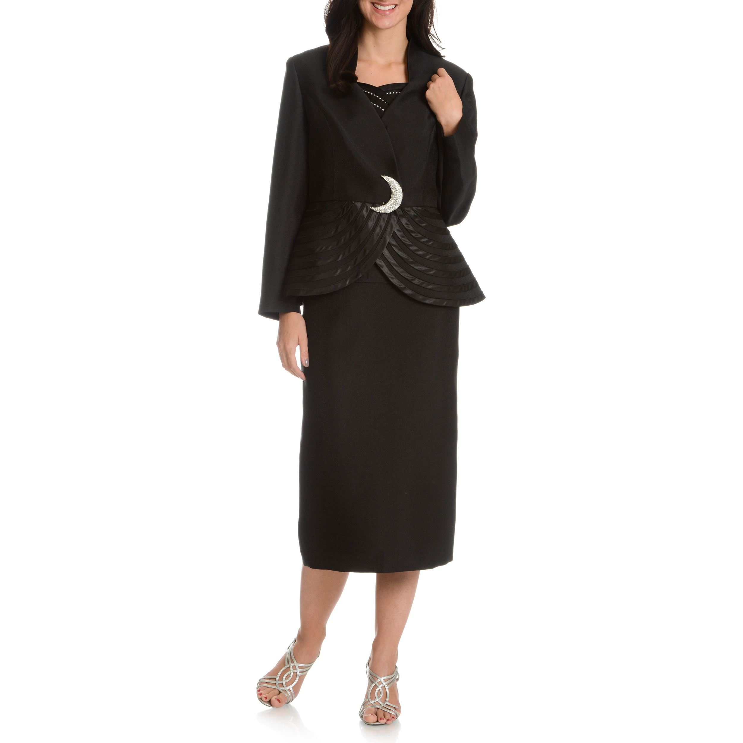 df008285e Shop Giovanna Collection Women's 3-piece Skirt Suit - Ships To Canada -  Overstock - 10180598