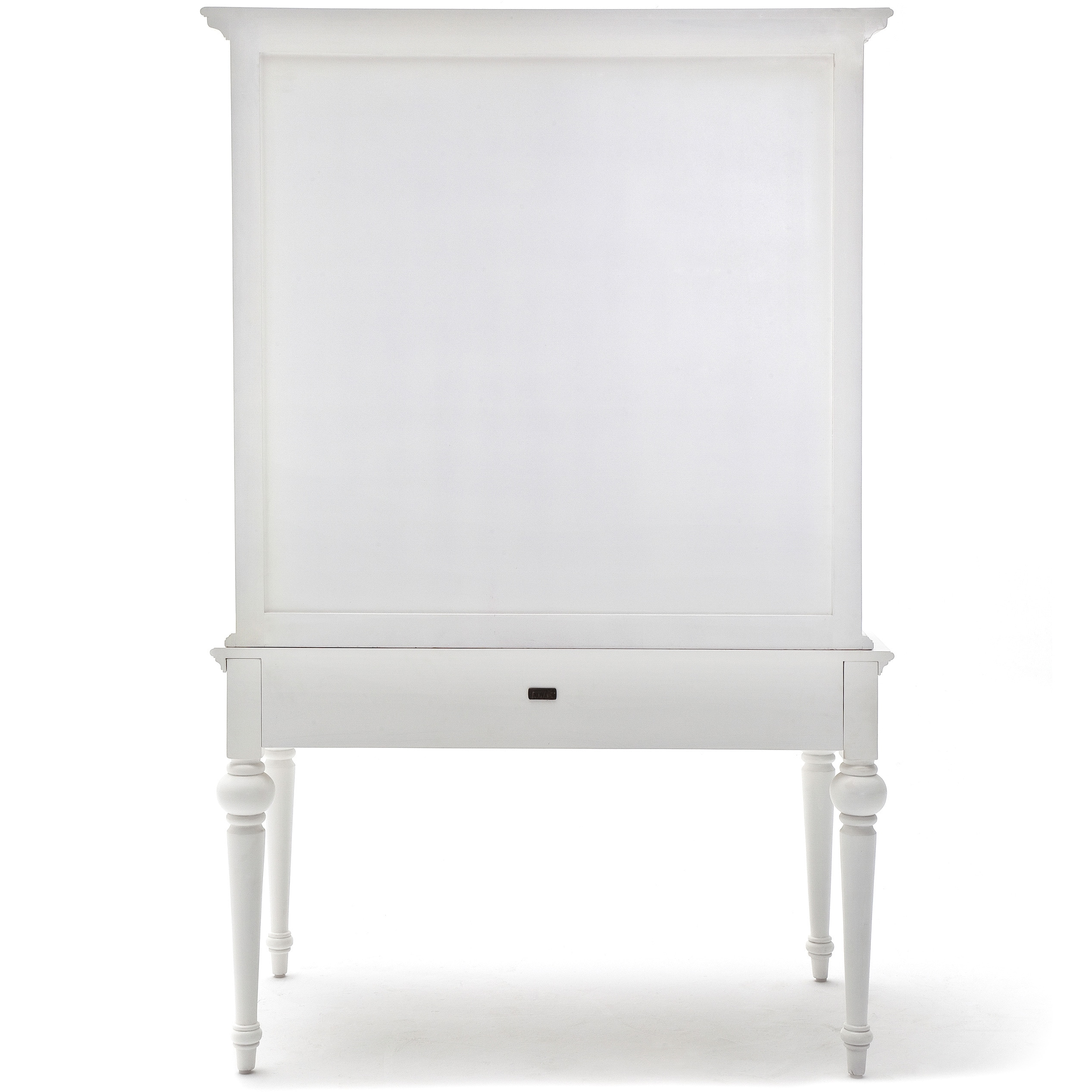 Shop NovaSolo White Mahogany Secretary Desk   Free Shipping Today    Overstock.com   10180600