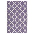 Indoor/Outdoor Laguna Lilac and Ivory Trellis Flat-Weave Rug (5'0 x 7'6)