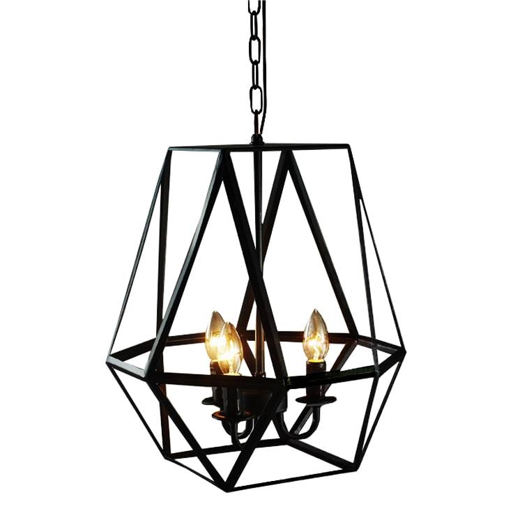 Shop Shandie Antique Bronze Geometric Edison Chandelier With Bulbs