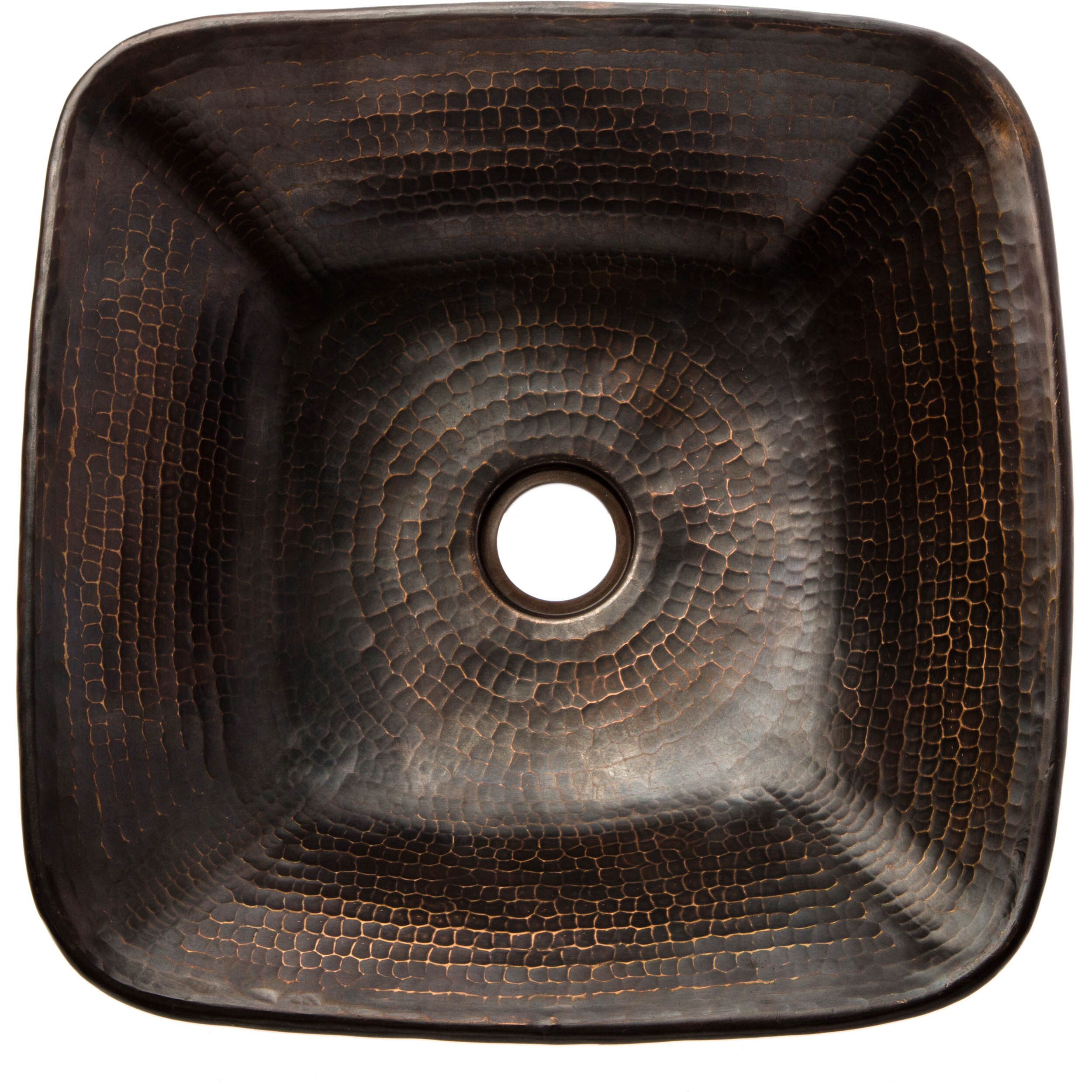 Premier Copper Products Square Hammered Copper Vessel Sink   Free Shipping  Today   Overstock.com   17309658