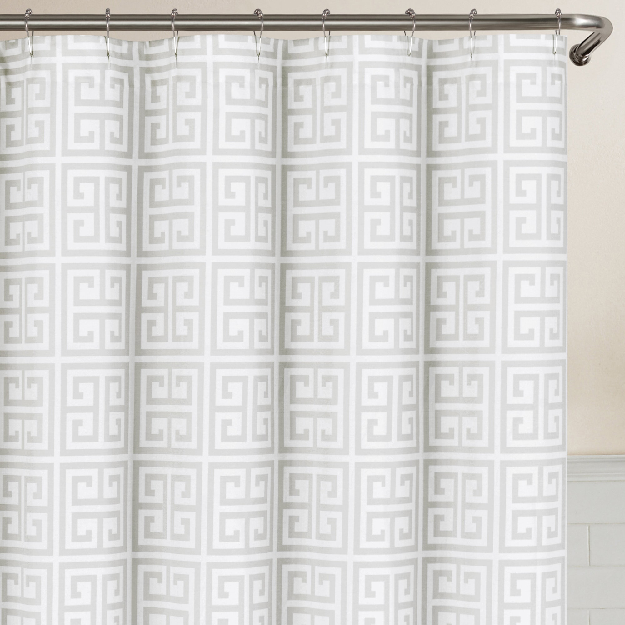 Shop Echelon Home Greek Key Shower Curtain