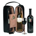 Royce Leather Luxury Suede Lined Double Wine Genuine Leather Carrying Case