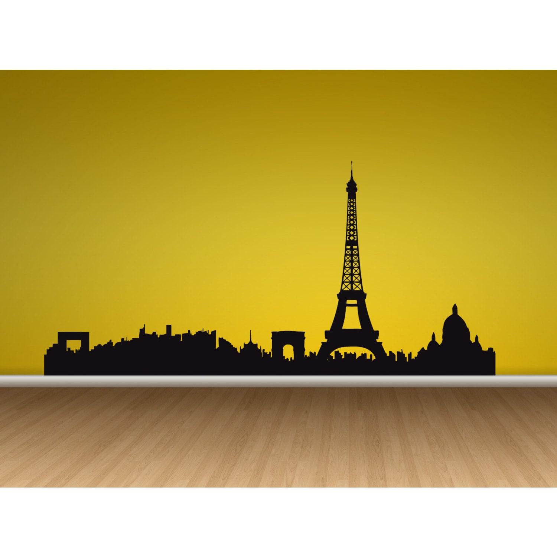 Eiffel Tower Paris SkyLine Vinyl Sticker Wall Art - Free Shipping On ...