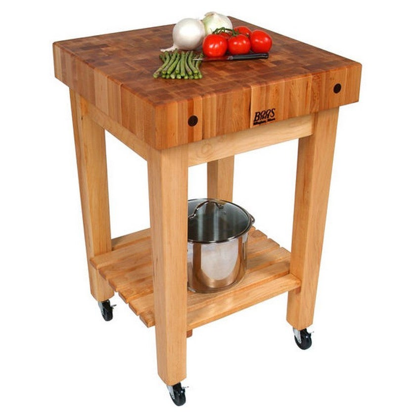 Exceptionnel John Boos Maple Butcher Block 24 X 24 Kitchen Cart GB C And Henckels  13 Piece Hencles Knife Set   Free Shipping Today   Overstock   17310356