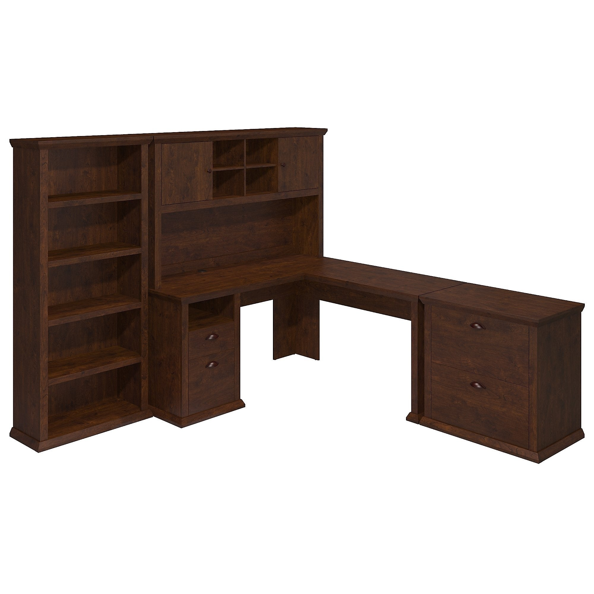 hutch creek desk sauder with organizer and shoal products drawers