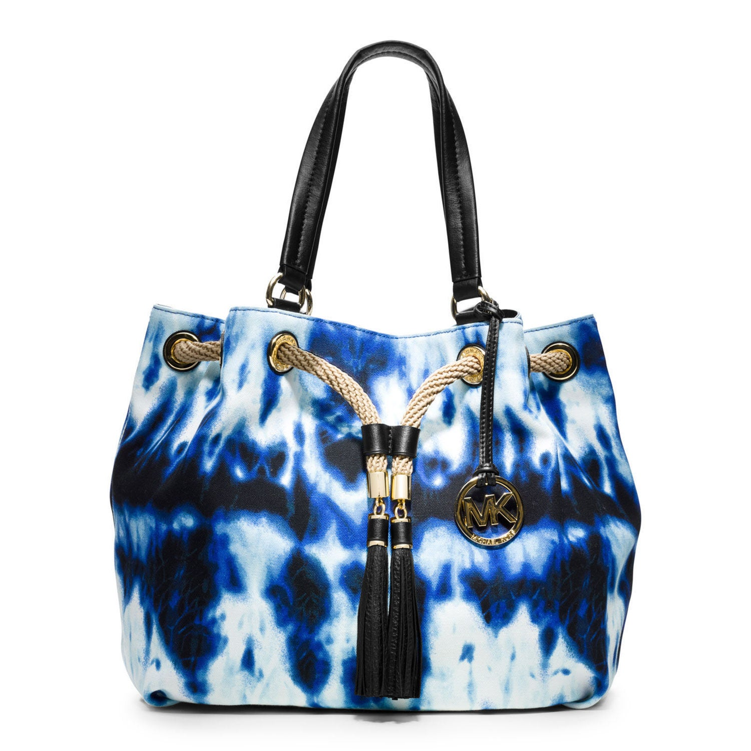 4e25d2214d46 ... low price shop michael michael kors marina large tie dye gathered tote  free shipping today overstock