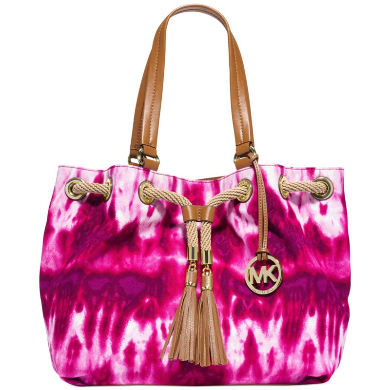 95d186070ce0 Shop MICHAEL Michael Kors Marina Large Fuchsia Tie-dye Gathered Tote - Free  Shipping Today - Overstock - 10184621