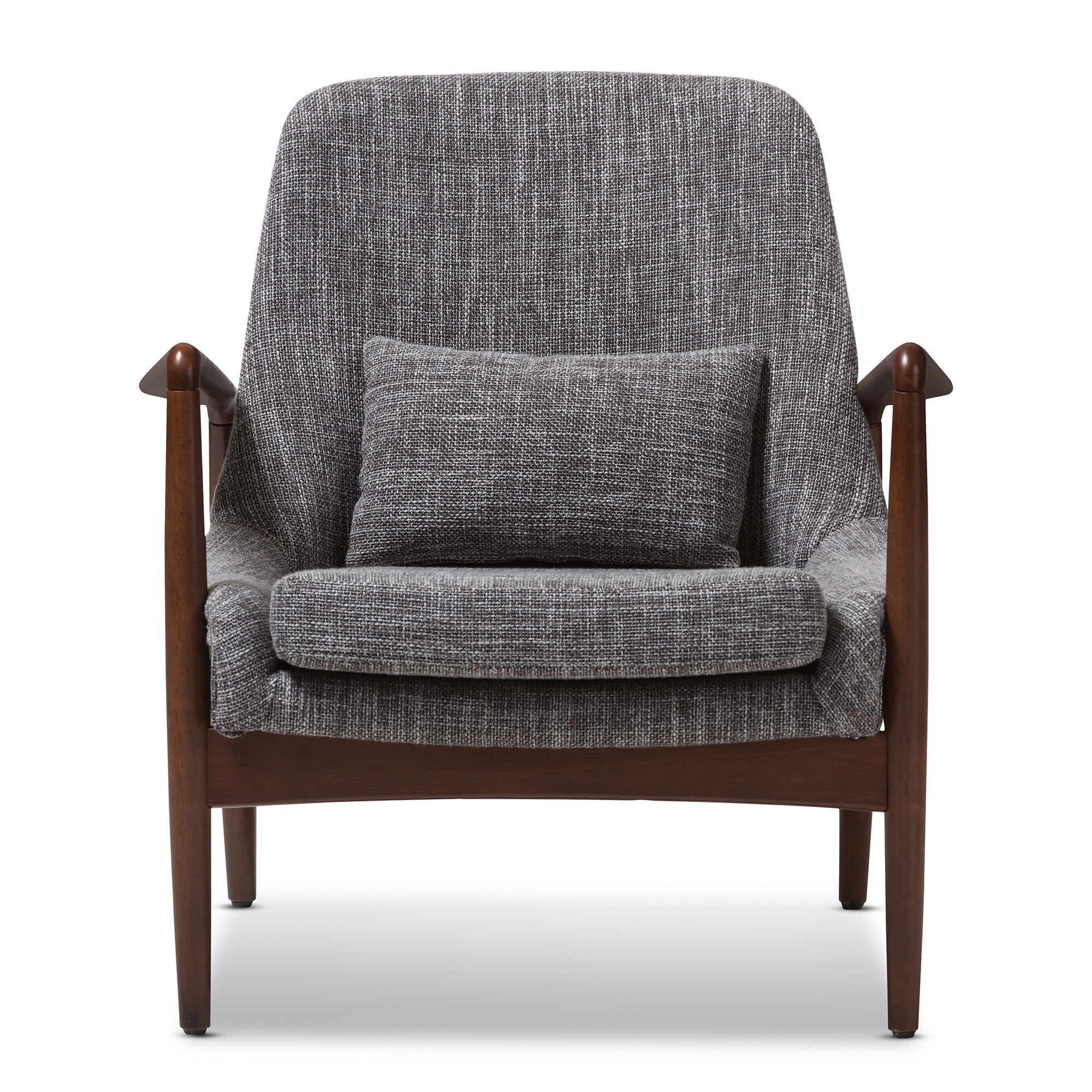 Shop Baxton Studio Dixon Mid Century Modern Grey Fabric Upholstered Lounge  Chair   Free Shipping Today   Overstock.com   10184646
