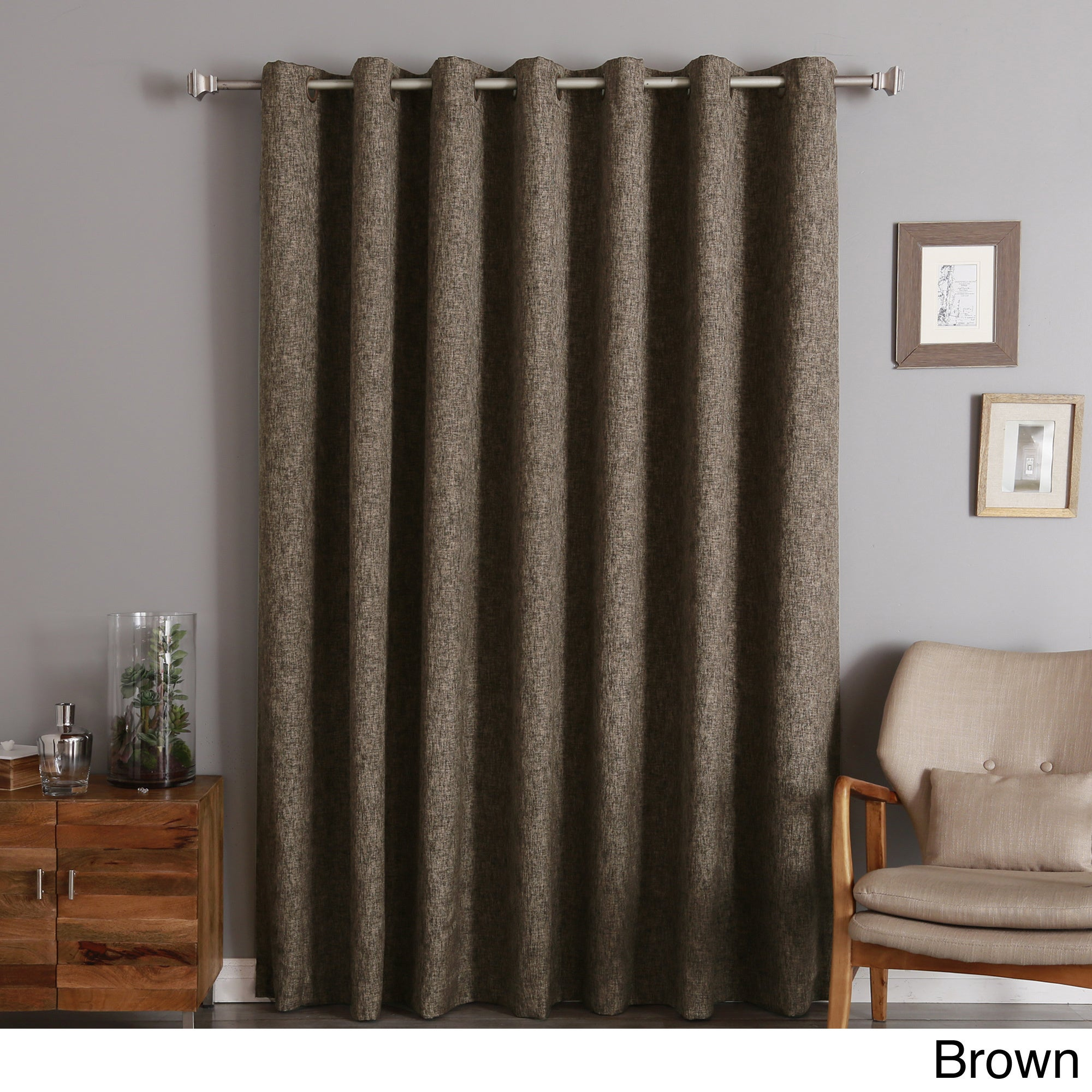 overstock rod home curtain pocket textured product denim panel solid pair drapes shipping elrene free pennington today garden