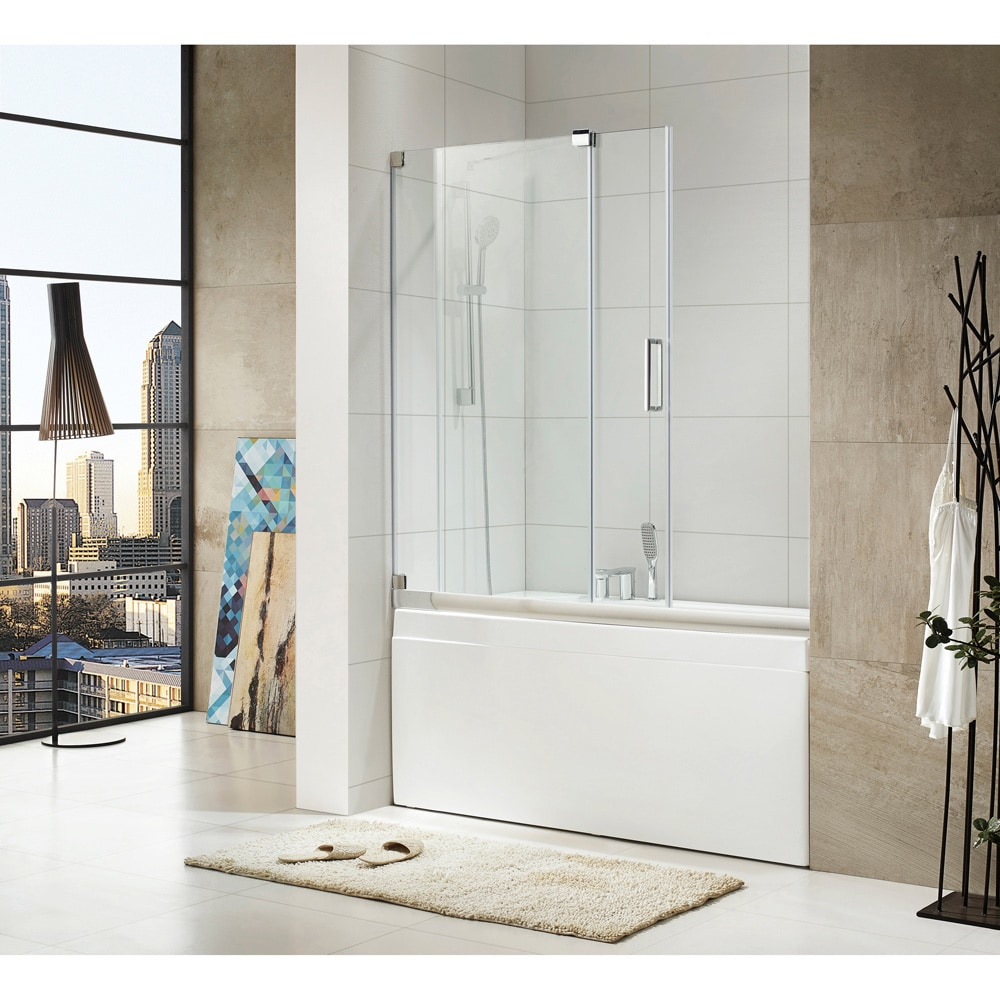 Shop Paragon Bath Oasis Premium 10 Mm Thick Clear Tempered