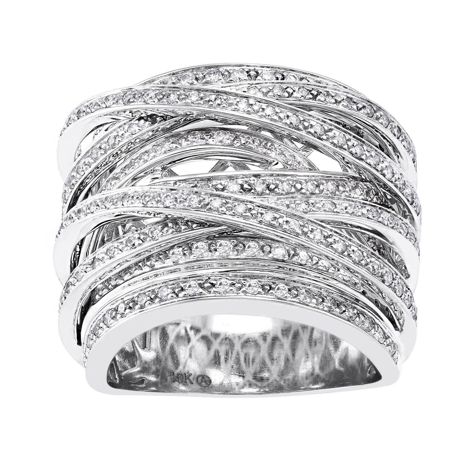 diamond round by ring multi baguette qvc band n cttw jewelry com affinity bands c