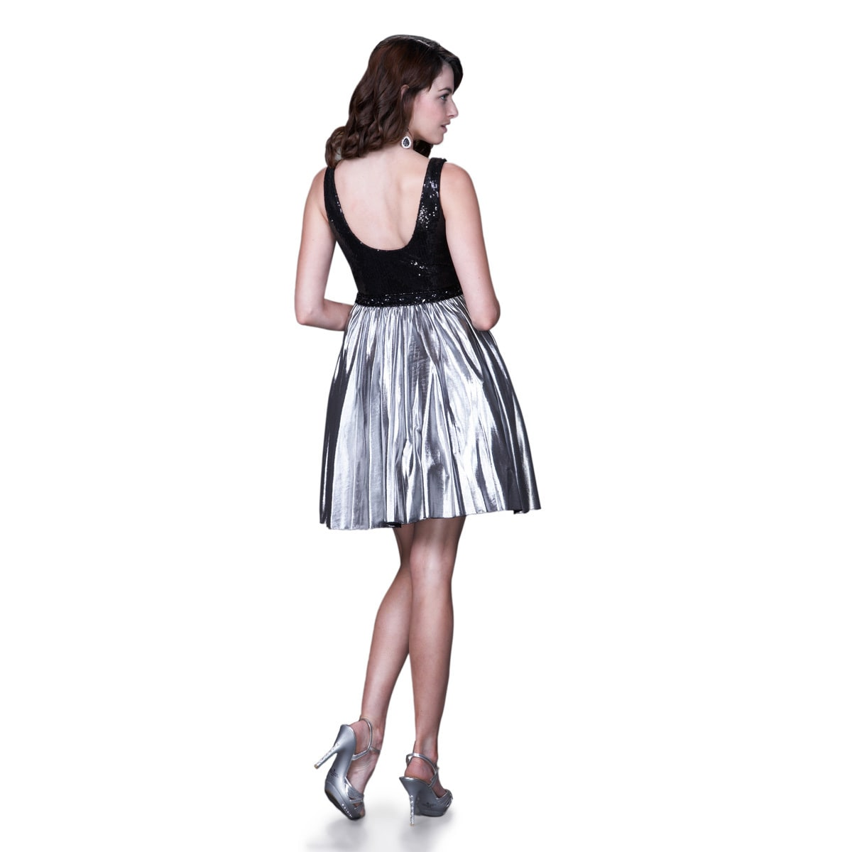 0beaadee57 Black And Silver Metallic Cocktail Dress - Gomes Weine AG
