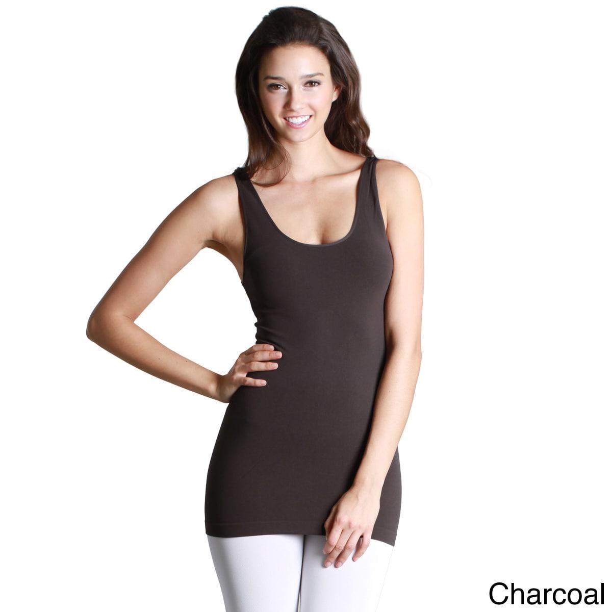 e9d86e23065672 Shop NikiBiki Women s Seamless Basic Solid Nylon Spandex Jersey Tank Top -  Free Shipping On Orders Over  45 - Overstock - 10187588