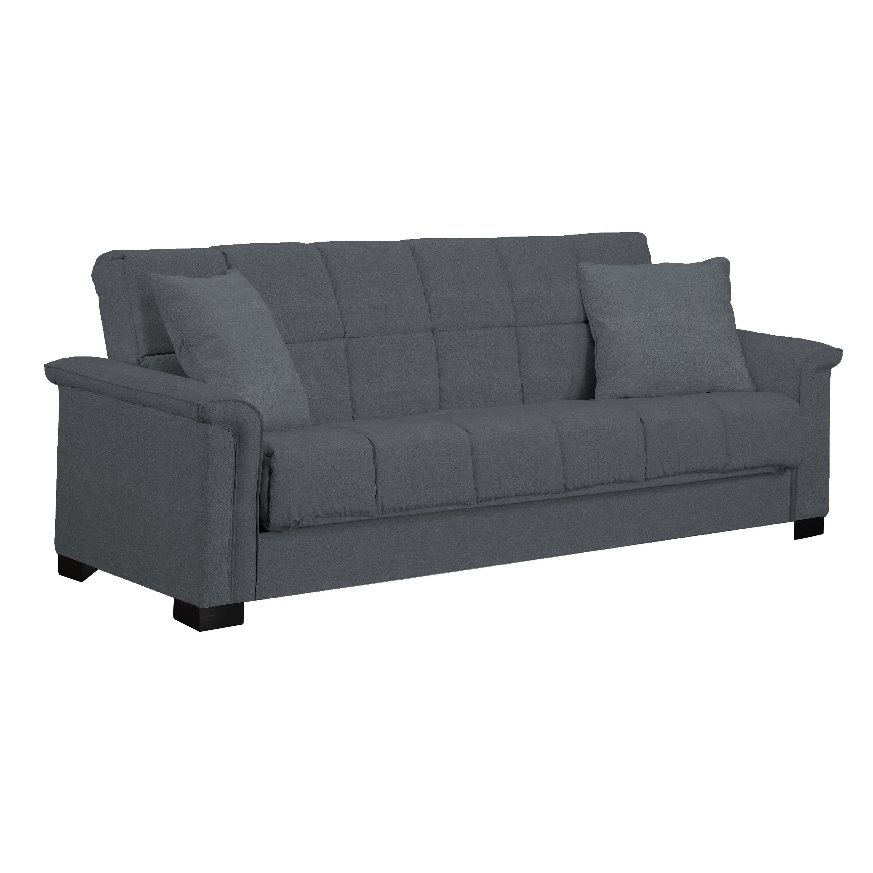handy living caroline grey microfiber convertacouch sleeper sofa  - handy living caroline grey microfiber convertacouch sleeper sofa  freeshipping today  overstockcom