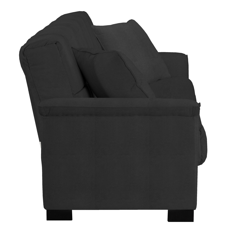 Handy Living Caroline Black Microfiber ConvertaCouch Sleeper Sofa