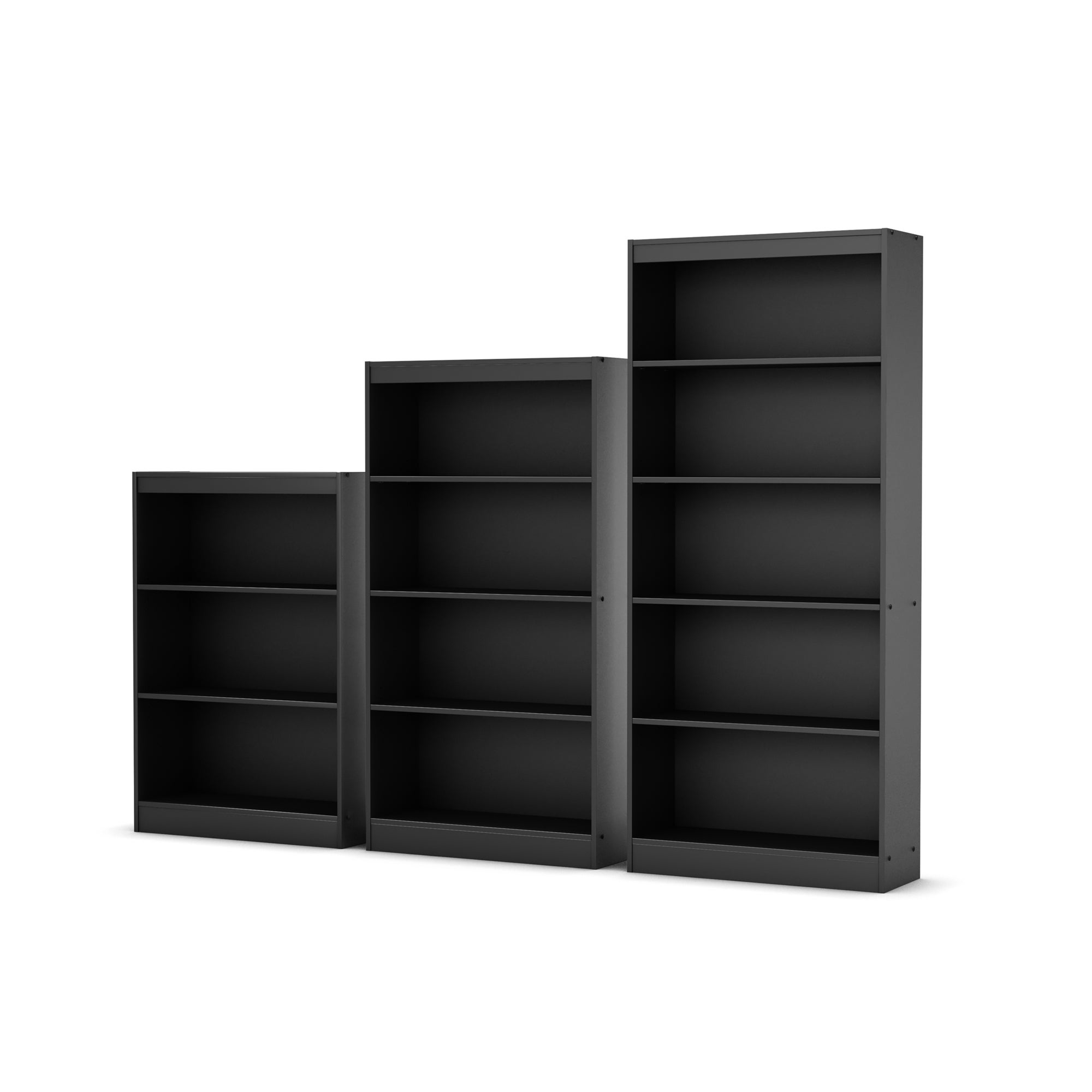 South Shore Pure Black Axess 5 Shelf Bookcase   Free Shipping Today    Overstock   17316345