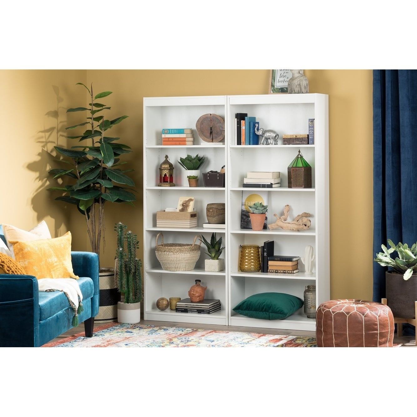 South Shore Pure White Axess 5 Shelf Bookcase   Free Shipping Today    Overstock   17316363