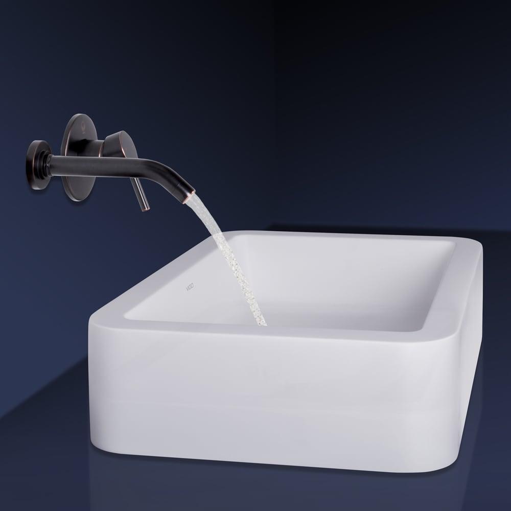 Shop VIGO Petunia Matte Stone Vessel Sink and Olus Antique Rubbed ...
