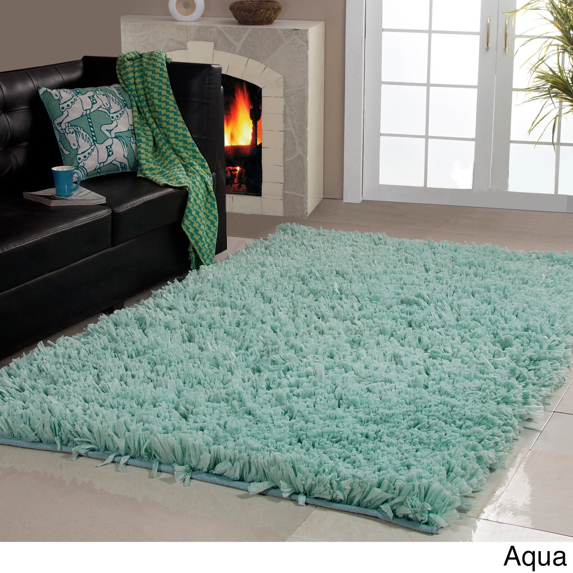 Shop Affinity Home Collection Cozy Shag Area Rug (5\' x 8\') - On Sale ...