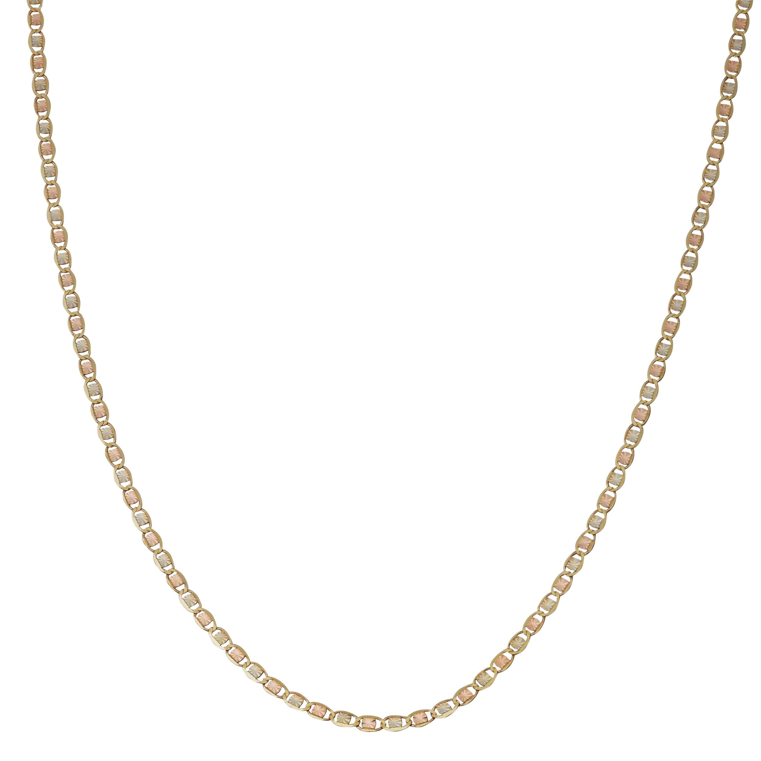 e6cf1044332d3 Fremada 10k Tricolor Gold Star Valentino Chain Necklace (16 - 20 inches)